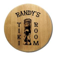 Tiki Room Barrel Head Sign Personalized