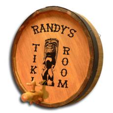 Tiki Room Quarter Barrel Sign Personalized