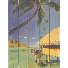 Tropic Paradise Wood Art