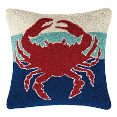 Triple Stripe Crab Hook Pillow