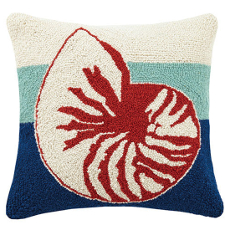Triple Stripe Nautilus Hook Pillow