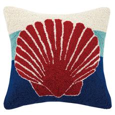 Triple Stripe Shell Hook Pillow