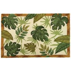 Tropical Foliage Accent Rug