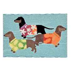 Tropical Hound Dog Indoor Outdoor Rug