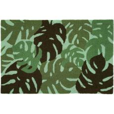 Tropical Leaves- Green Accent Rug