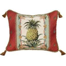 Tropical Pineapple Needlepoint Pillow