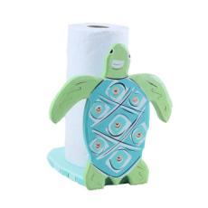 Wood Sea Turtle Paper Towel Holder