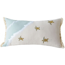 Turtle Migration Pillow - Indoor Cotton