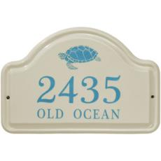 Sea Turtle Ceramic Arched Address Plaque