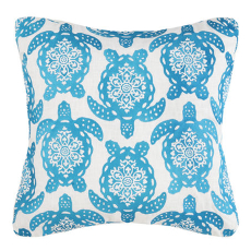 Sea Turtle Moves Pattern Embroidered Pillow