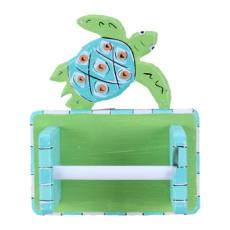 Wood Sea Turtle Toilet Tissue Holder