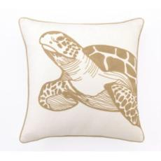 Sea Turtle Embroidered Pillow