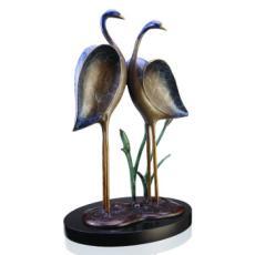 Romantic Crane Couple Sculpture