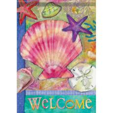 Under The Sea Shells Garden Dura Soft Flag