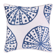 Urchins Navy Embroidered Pillow