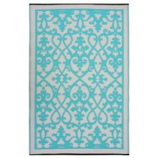 Venice Cream & Turquoise Indoor Outdoor Rug