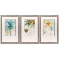 Watercolor Palms Framed Art Set of 3