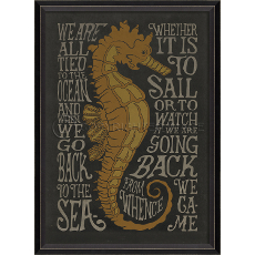We Are All Tied To The Ocean - Black- Framed Art