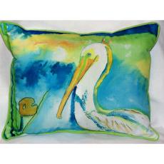 White Pelican Outdoor Pillow
