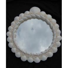 White Island  Seashell Mirror