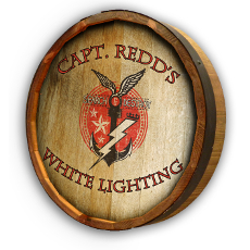White Lightning Quarter Barrel Wall Sign Personalized