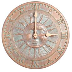 Sunface Indoor or Outdoor Wall Mounted Clock