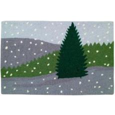 Winter Scene Holiday Rug