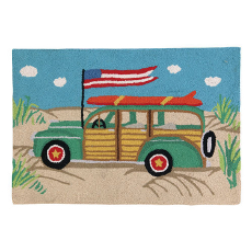 Going Places Woodie Car Hook Rug