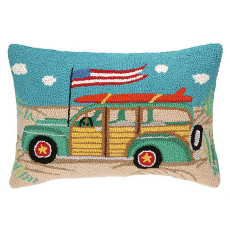 Going Places Station Wagon Hook Pillow