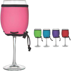 Solid Color Neoprene Wine Glass Koozie