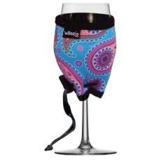 Paisley Neoprene Wine Glass Koozie In Blue
