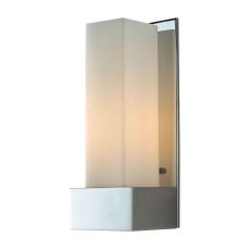 Solo Tall 1 Light Sconce In Chrome With White Opal Glass