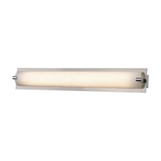 Piper 1 Light Vanity In Satin Nickel With Frosted Glass - Small