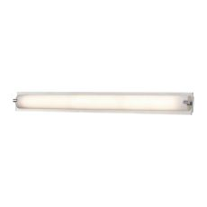 Piper 1 Light Vanity In Chrome With Frosted Glass - Medium