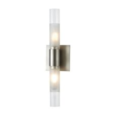 Regato Duo 2 Light Sconce In Satin Nickel With Clear And Frosted Glass