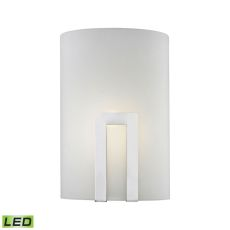 Portal 1 Light Led Wall Sconce In Chrome And Frosted Glass