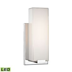 Midtown 1 Light Wall Sconce In Chrome And Paint White Glass