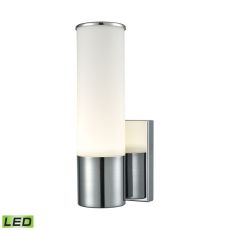 Maxfield 1 Light Led Wall Sconce In Chrome And Opal Glass