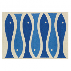 Fish Ribbon Hook Rug