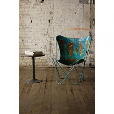 Iron Butterfly Chair - Vintage Blue