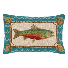 Brook Trout Hook Pillow