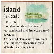 Island Definition Wooden Wall Art