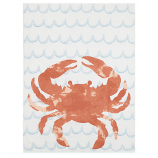 Watercolor Crab Kitchen Towel