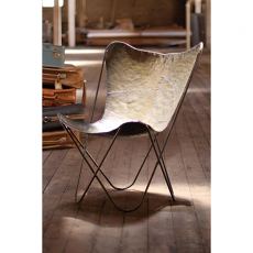 Iron Butterfly Chair - Raw Metal
