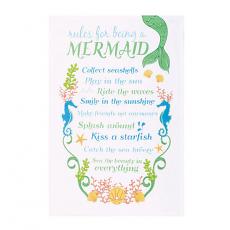 Mermaid Rules Kitchen Towel