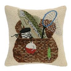 Creel Fishing Basket Hook Pillow