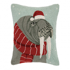 Christmas Walrus Hook Pillow