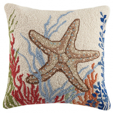 Starfish and Coral Hook Pillow