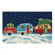 Merry Christmas Camper Hook Rug