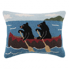 Bears In Canoe Hook Pillow